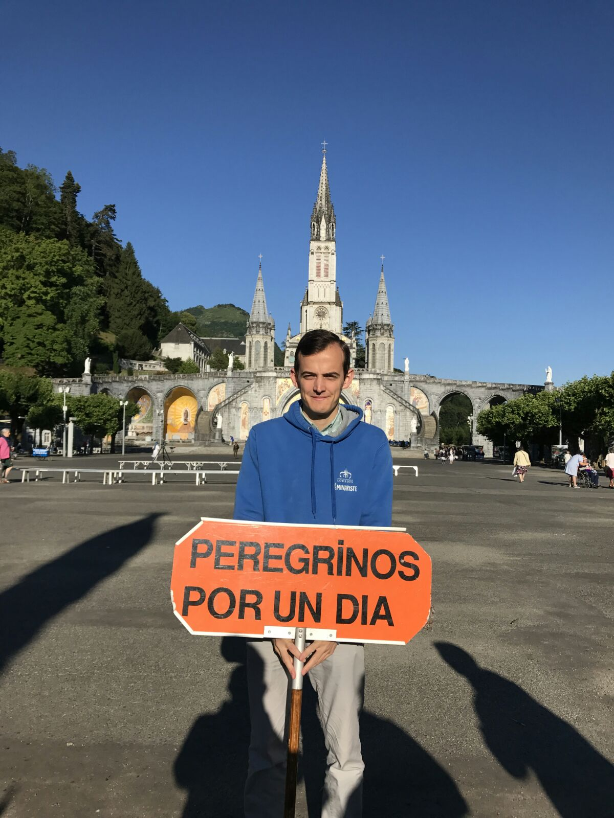 Seminaristas en Lourdes